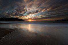 Baker Beach Sunset - 12x18 16x24 20x30 24x36 Metal Print - Landscape Photography - Modern Art Wall Art - Nature