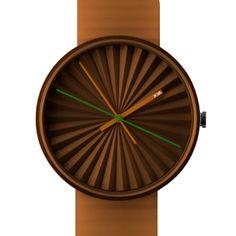 Plicate (orange) watch by NAVA. Available at Dezeen Watch Store: www.dezeenwatchstore.com
