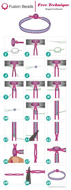 The wrapped cord bracelet technique has been a huge trend the last few years, and it looks like it's here to stay for 2016! Take a look at how easy it is to create your own single or multi wrap cord bracelet with these easy-to-follow steps.