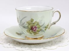 Colclough Teacup - Dainty Tea Cup and Saucer - English Bone China