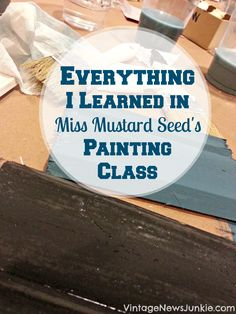 Miss Mustard Seed Painting Class- 3 of her most popular finishes with chalk paint and milk paint. Paint Furniture, Furniture Projects, Furniture Making, Furniture Makeover, Furniture Design, Pallet Projects, Chair Design, Design Design, Modern Furniture