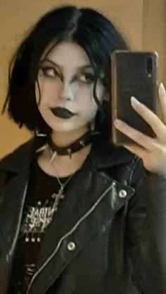 Grunge Makeup, Goth Makeup, Hair Makeup, Makeup Inspo, Goth Aesthetic, Aesthetic Makeup, Alternative Outfits, Alternative Fashion, Estilo Indie