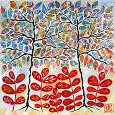 Stained Glass Trees | Carla Sonheim