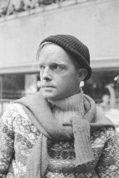 Truman Capote at the Rockefeller Center Ice Skating Rink, 1959, by Alfred Eisenstaedt.