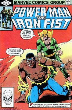 Power Man and Iron Fist Hero for Hire) comic books Comic Book Characters, Comic Book Heroes, Comic Books Art, Comic Art, Book Art, Star Comics, Marvel Comics Art, Iron Fist Comic, Luke Cage Iron Fist