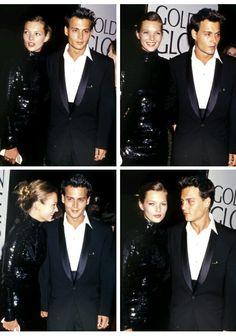 Kate Moss and Johnny Depp, Golden Globes 1995