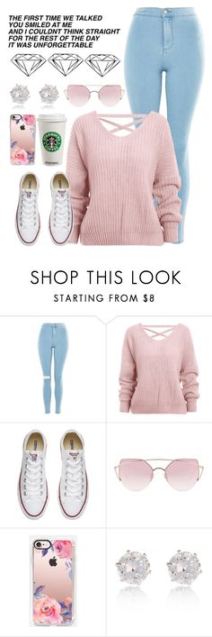 """""""I could use a love song"""" by lillyd26 ❤ liked on Polyvore featuring Topshop, Converse, LMNT, Casetify and River Island"""