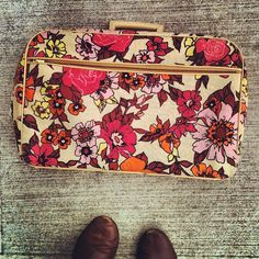 the most beautiful vintage suitcase. photo by @Andrea Jenkins aka hulaseventy