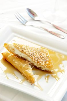 Tyropita, Honey  Sesame seeds