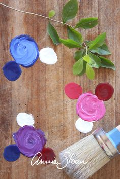 Mixing colour using Annie Sloan chalk paint is super easy - possibilities almost…