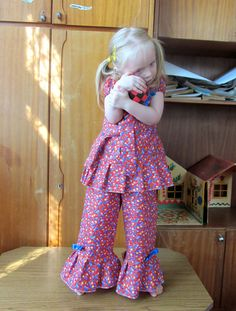 Girl Floral Outfit Set  Girl Clothing Floral by naturalbabydresses