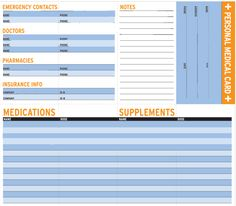 Download Free Children's Medication Chart; Great for Tracking Dose ...