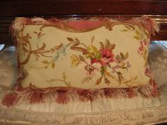 French authentic19th century aubusson pillow