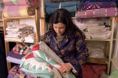 I just love Kirstie Allsop's Home made Home Meadowgate! In one of the episodes, she pulled this amazing second-hand quilt