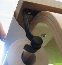 attach a roll of art paper to a table/easel with curtain rod holder & dowel