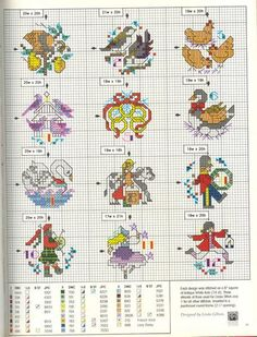 12 Days Of Christmas Cross Stitch.186 Best 12 Days Of Christmas Stitching Images Christmas
