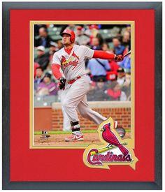 Matt Holliday 2014 St. Louis Cardinals - 11 x 14 Team Logo Matted/Framed Photo