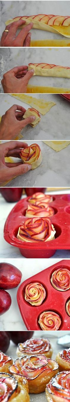Funny pictures about They're Making Me Hungry. Oh, and cool pics about They're Making Me Hungry. Also, They're Making Me Hungry photos. Pumpkin Dessert, Dessert Recipes, Lunch Snacks, Apple Recipes, Sweet Recipes, Food Porn, Vietnamese Dessert, Apple Roses, Gourmet