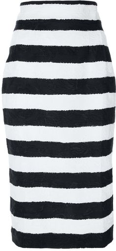 defdb9b704 Dolce & Gabbana Striped Pencil Skirt Pencil Skirt Black, Pencil Skirts,  Blouse And