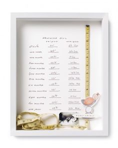 Excellent keepsake for little ones growing up so fast: Height of Style Frame.