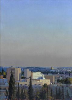 Jerusalem from Mount of Olives 2 Oil on canvas 55 x 39¼ ins (140.00 x 100.00 cms)