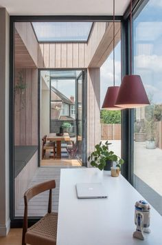 Image 3 of 20 from gallery of Charcoal House / Yellow Cloud Studio. Courtesy of Yellow Cloud Studio House Extension Design, Extension Designs, Garage Extension, Extension Ideas, Charcoal House, Larch Cladding, Yellow Cloud, Interior Styling, Interior Design