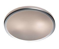 Настенно-потолочный светильник - стекло - хром