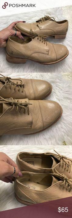FRYE SZ 8 TAN LEATHER OXFORDS SHOES FLATS Amazing FRYE oxfords Frye Shoes