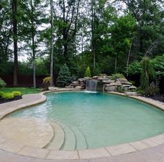 Pool with a gorgeous water feature