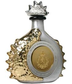 The world's most expensive cognac is the Henri IV Dudognon Heritage. This ultra expensive liquor produced since 1776 is aged in barrels for more than 100 years. It comes in a jeweled bottle dipped in 24 K gold and sterling platinum,  decorated with 6,500 brilliant cut diamonds. With an alcohol content of 41%, our Henri IV Dudognon Heritage bottle weighs 8 kilograms and with 100 cl. of the precious liquor. The Henri IV Dudognon Heritage is priced at $1,982,300 per bottle. Cheers.