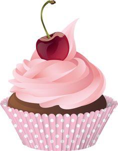 Cupcakes Amor Panda Ideas For 2019 Cupcake Png, Cupcake Kunst, Fondant Cupcake Toppers, Rose Cupcake, Cupcake Cakes, Logo Doce, Cupcake Painting, Cake Wallpaper, Cupcake Illustration