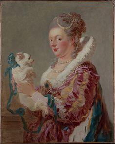 A Woman with a Dog, Artist: Jean Honoré Fragonard (French, Grasse 1732–1806 Paris) Date: ca. 1769