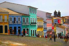 Pelourinho in Salvador, Brazil | 17 Impossibly Colorful Cities You'll Want To Visit Immediately