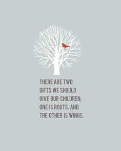 Roots & Wings Quote 8x10 art print  FREE by shopcocoprints on Etsy, $16.50