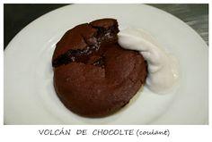 volcan de chocolate coulant vegano