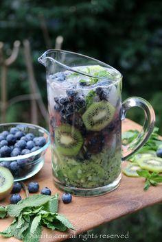 Kiwi Blueberry Mojito. It's Friday.