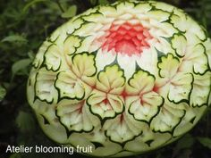 フルーツカービングfood garnish#fruit carving work
