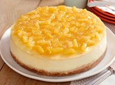 I can't imagine anything more luscious than pineapple and cream cheese together in a beautiful cheesecake! This one is calling my name. Recipe & Photo: kraftrecipes.com