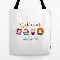 Red+Heads+Do+It+Better+Tote+Bag+by+Laura's+Lovelies+-+$22.00