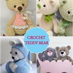 Free Crochet Bear Patterns – Amigurumi Patterns Crochet Baby Cocoon Pattern, Crochet Necklace Pattern, Crochet Teddy Bear Pattern, Free Crochet, Crochet Fox, Crochet Socks, Crochet Animals, Easy Crochet, Crochet Pokemon