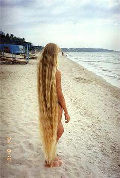 Rapunzel at the beach.
