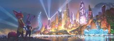 Zootopia is a 2016 Academy Award-winning animated film produced by Walt Disney Animation Studios. Zootopia Concept Art, Zootopia Art, Disney Concept Art, Disney Now, Disney Time, Art Disney, Disney Magic, Book Cover Art, Book Art