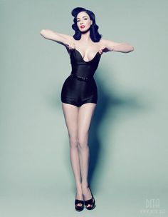 Dita Vin Teese. She's just so beautiful and has curves in all the right places.
