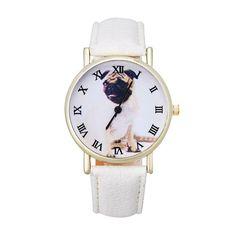 Cute Dog Leather Band Analog Quartz Vogue Wrist Watch relogio reloj pulsera de cuero Z510