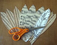 This is a cool idea.. how to make paper feathers