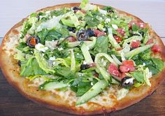 Meatless Mondays: The Oaks Gourmet Market's Recipe for Greek Salad Pizza