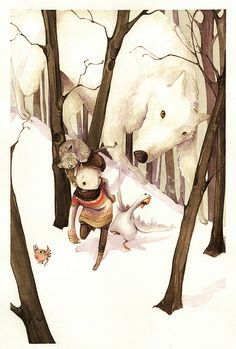 Peter and the wolf by Simona Cordero, via Flickr