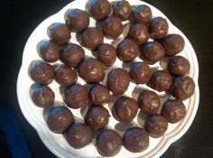 PECAN PIE BALLS - no bake & chocolate covered.
