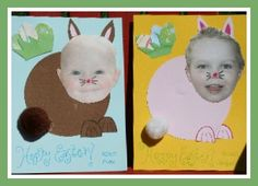 Easter bunny photo cards.