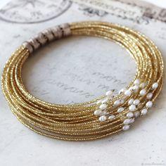Handmade Wire Jewelry, Handmade Jewelry Designs, Beaded Jewelry Patterns, Jewelry Crafts, Jewelry Art, Fashion Jewelry, Beaded Necklace, Beaded Bracelets, Jewelery